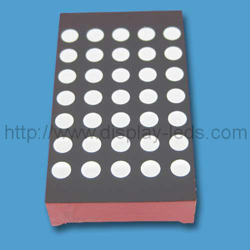 1.2 inch 5x7 LED Dot Matrix with up and down gaps