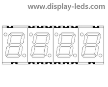 0.28 Inch Four Digit 7 Segment SMD Display