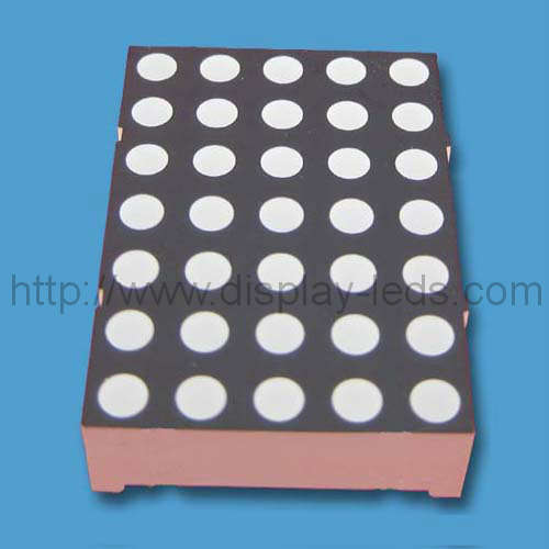1.2 inch (30 mm) 5x7 dot matrix LED display