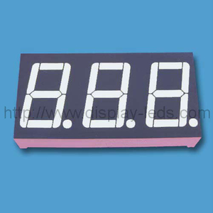 0.56 inch triple digit seven segment Display with static circuit